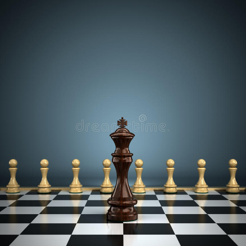 Download King with pawns stock illustration. Illustration of piece - 25855782