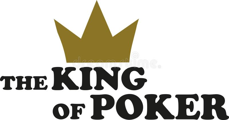 The king of Poker. Gambling vector vector illustration