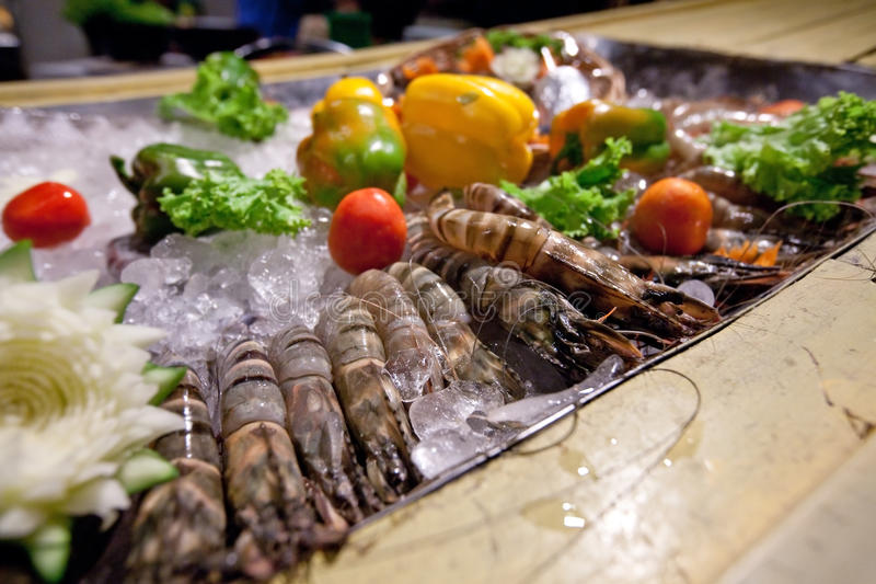 Download King Prawn Ready For The Grill Stock Photo - Image: 28934822