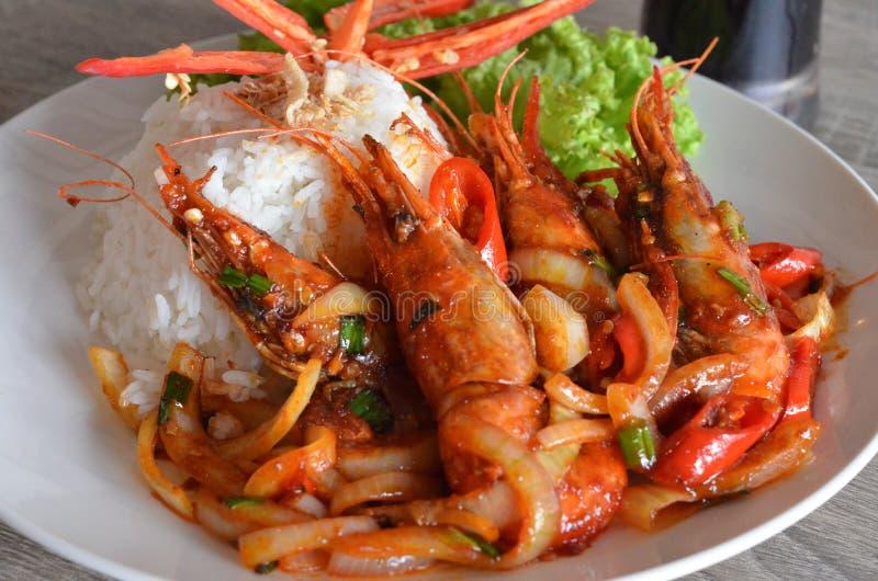 King Prawn Rice stock images