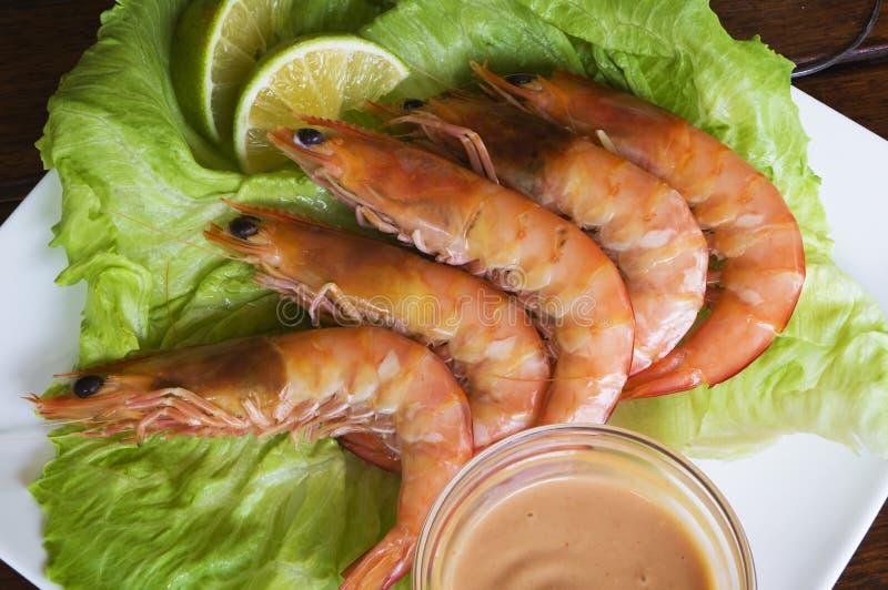 Download King Prawns stock photo. Image of table, crustacean, garnish - 7811054