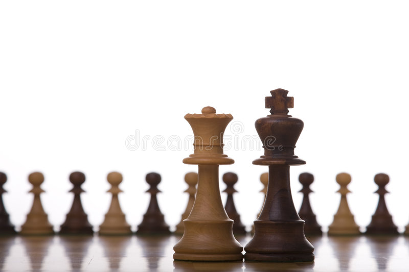King and queen chess piece royalty free stock photos