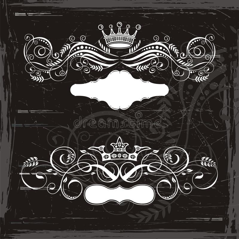 Download King and Queen crowns stock vector. Image of grunge, lines - 11605828