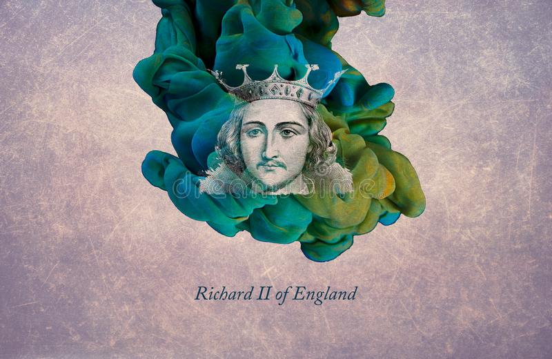 King Richard II of England. Richard II, also known as Richard of Bordeaux, was King of England from 1377 until he was deposed in 1399. Richard, a son of Edward royalty free illustration