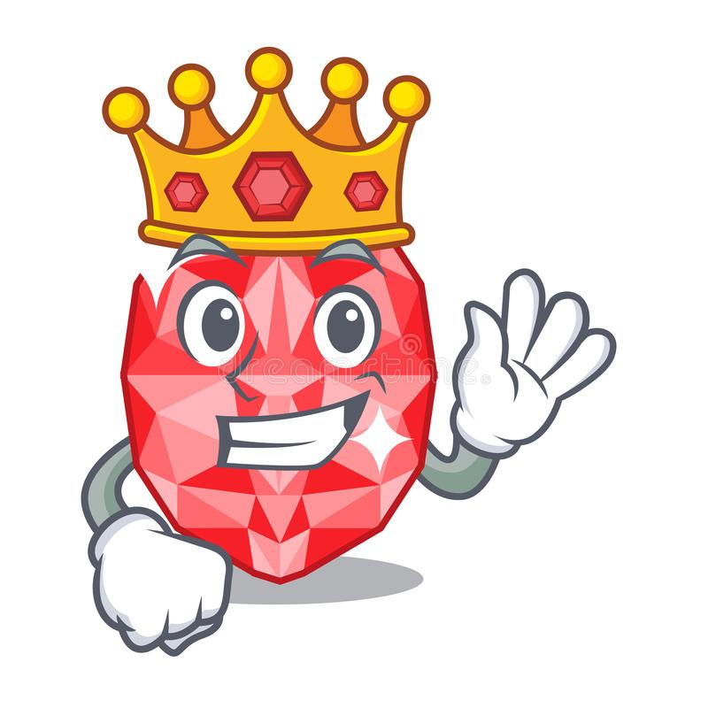 King ruby gems in the mascot shape. Vector illustration stock illustration