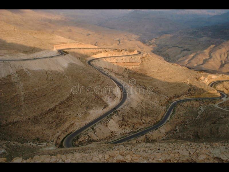King& x27; s高速公路35 -约旦 库存图片