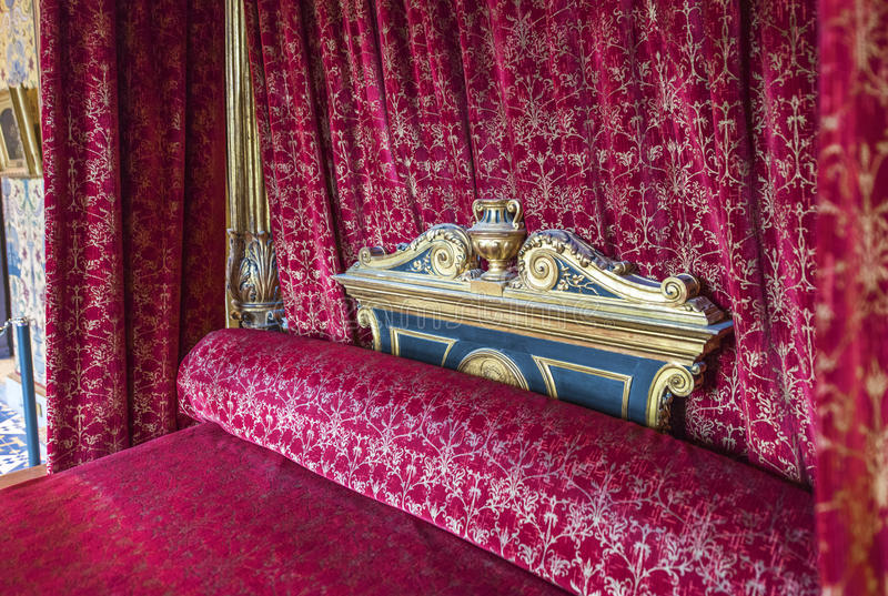 King`s chamber in chateau Blois stock photography