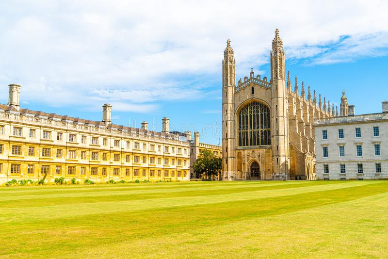 King's College Chapel in Cambridge, UK. Beautiful Architecture at King's College Chapel in Cambridge, UK royalty free stock photo
