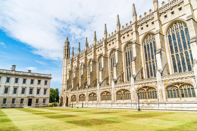 King's College Chapel in Cambridge, UK. Beautiful Architecture at King's College Chapel in Cambridge, UK royalty free stock photography