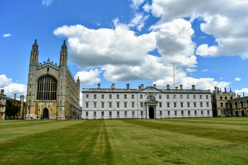 Kings College and Chapel, Cambridge @ UK. Trinity College is a constituent college of the University of Cambridge in UK. It lies beside the river stock photos