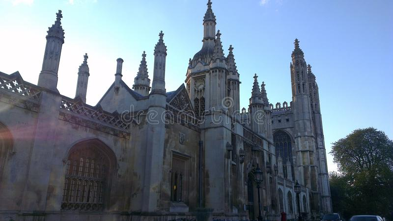 King's college parade gate royalty free stock photography