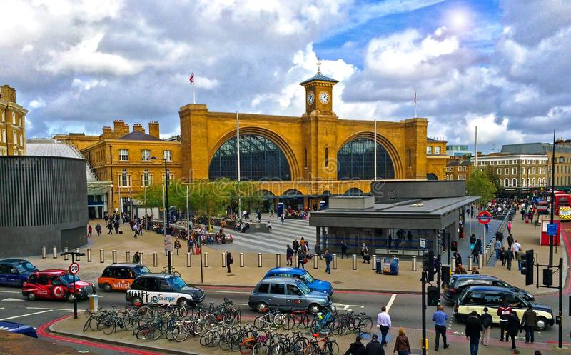 Kings Cross railway station London royalty free stock image