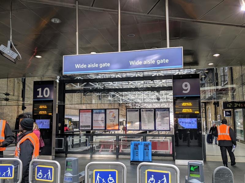 King`s Cross train station, platforms 9 and 10 royalty free stock photography