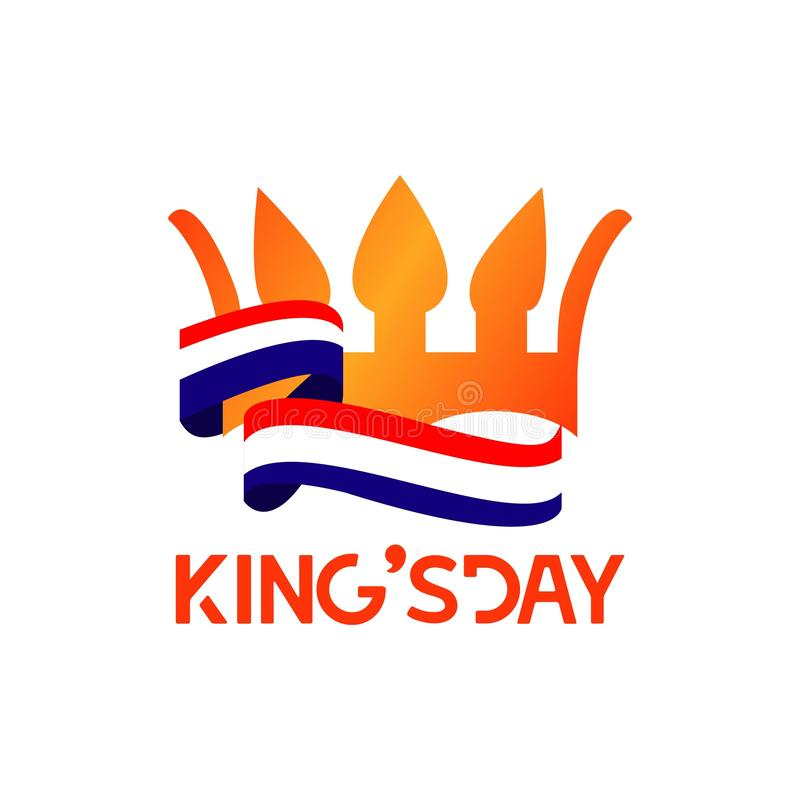King's Day Vector Template Design Illustration. Day, king, netherlands, holiday, illustration, lettering, fathers, background, happy, sign, vector, design vector illustration