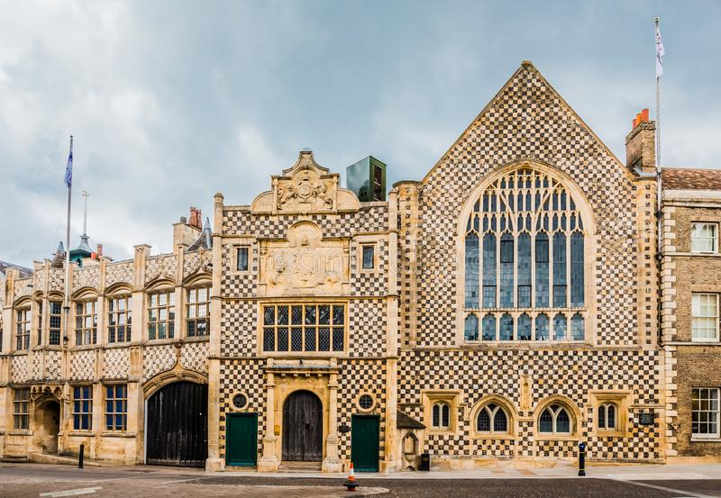 King`s Lynn, Norfolk, England, June 16, 2016: The Medieval Guildhall. Kings Lynn Guildhall showing medieval English architecture, with flint flush-work and stock image
