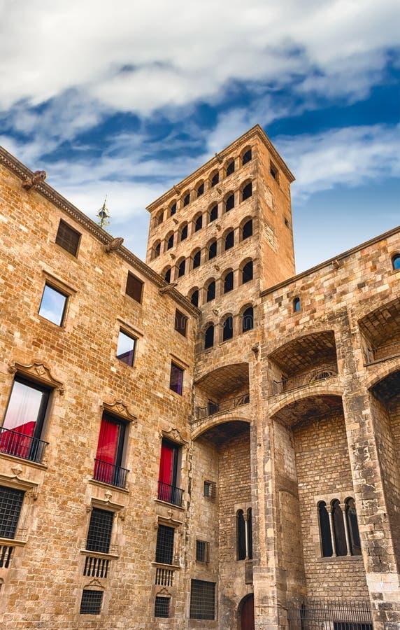 King& x27; s Martin Watchtower, señal en el cuarto gótico, Barcelona, fotos de archivo libres de regalías