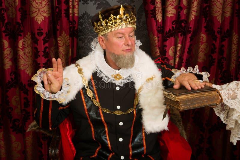 King's oath stock image