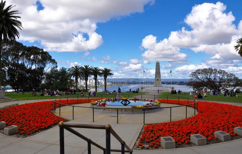King's Park Botanical Garden with State War Memorial stock images