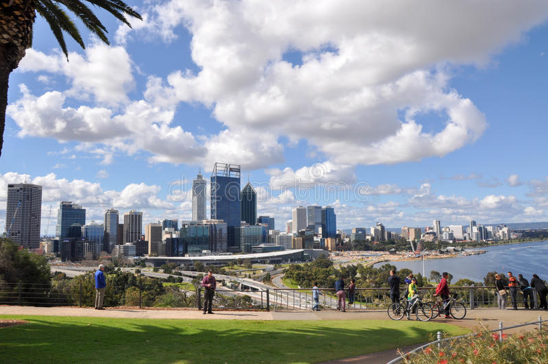 King's Park Views: Perth CBD royalty free stock image