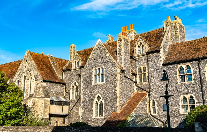 The King`s School in Canterbury, England royalty free stock photography