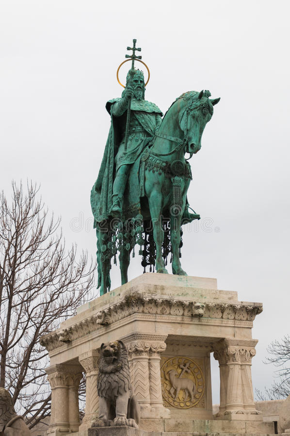 King Saint Stephen statue in Budapest Hungary royalty free stock image
