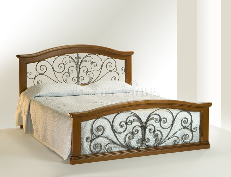 King size bed stock photo