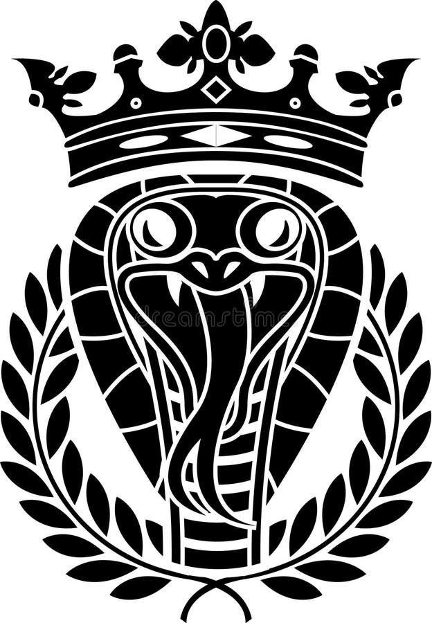 King of snakes. Stencil. illustration royalty free illustration