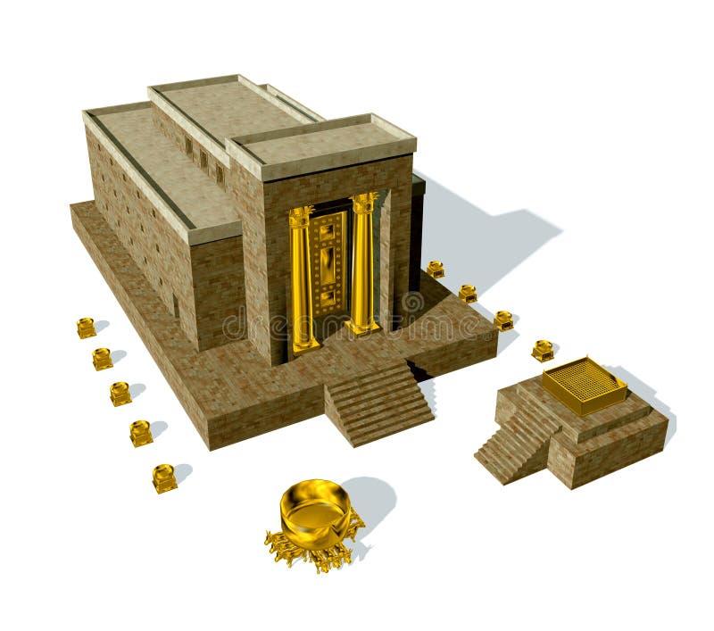 King Solomon Temple isolated on white background royalty free illustration