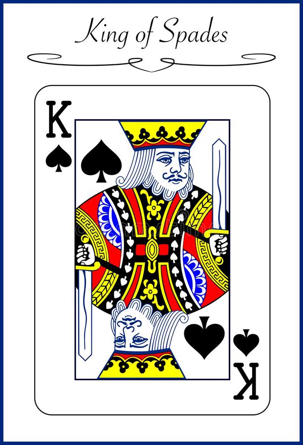 King of Spades, illustration of a playing card stock illustration