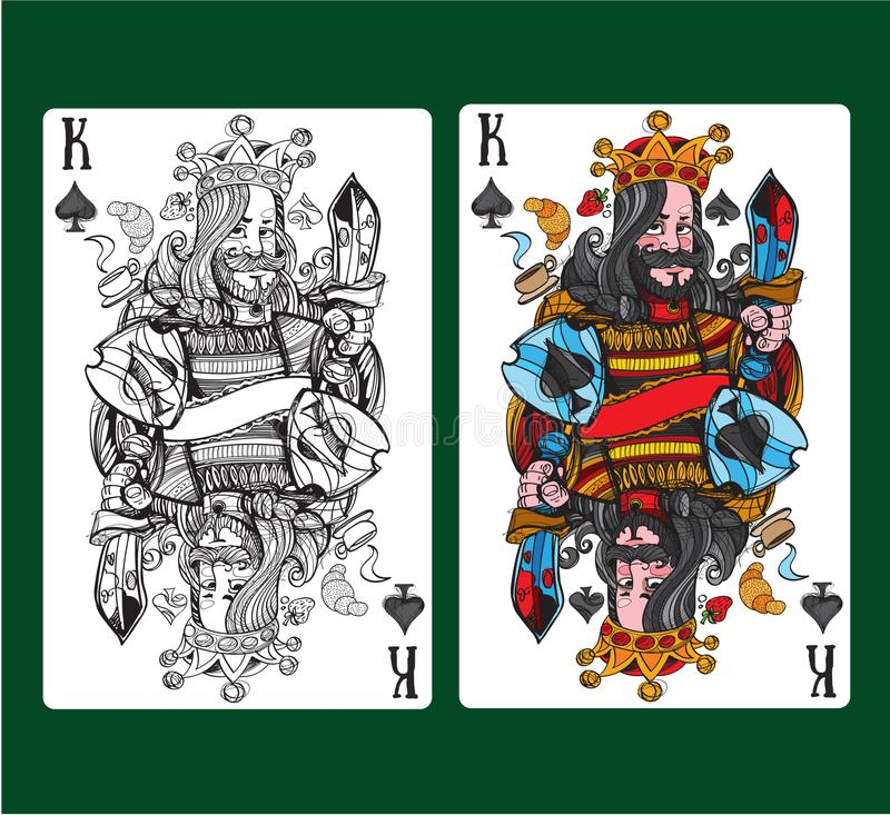 King of spades playing card. Vector illustration vector illustration