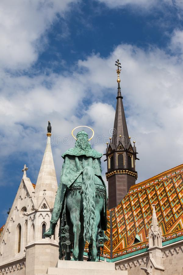King St. Stephen and Matthias Church in Budapest royalty free stock photography