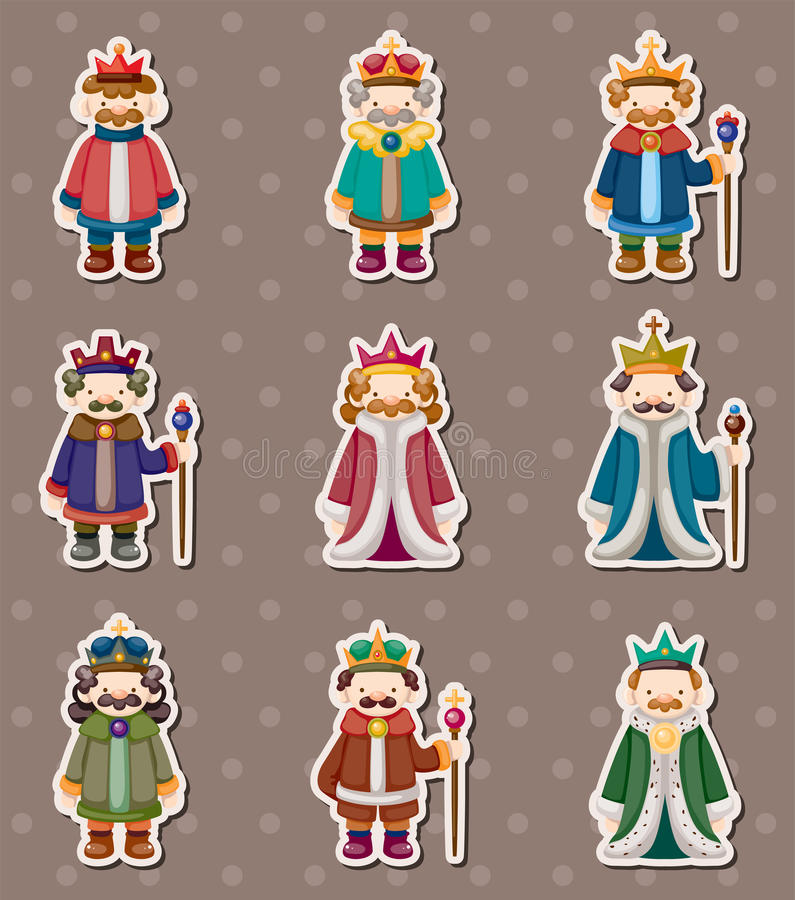 Free King Stickers Royalty Free Stock Photo - 25249545