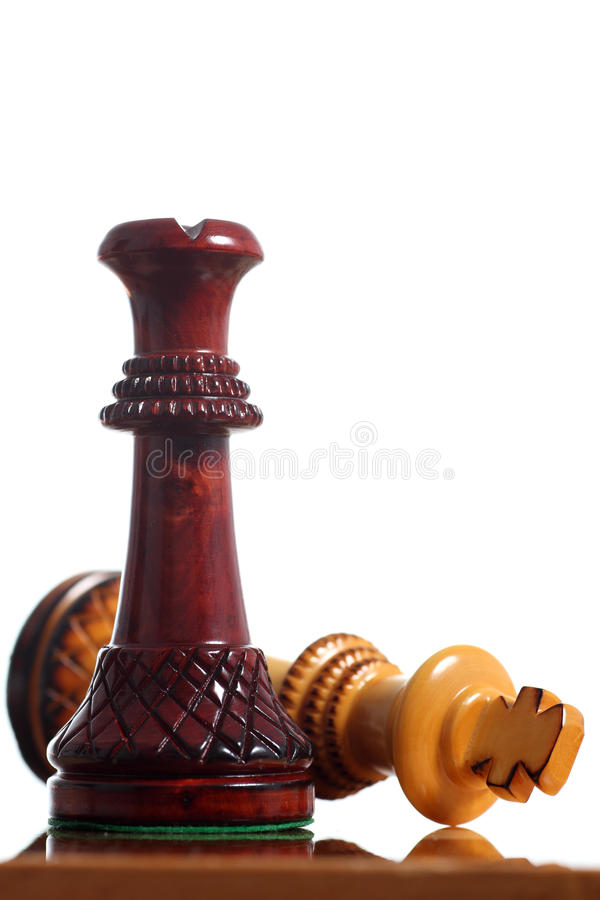 King Surrender On A Chessboard Royalty Free Stock Photos