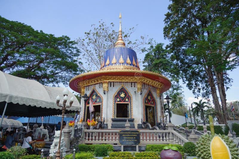 King Taksin the Great's shrine voor de 2e bataljon, 1e Infanteregime, Royal Thai Marine Corps stock fotografie