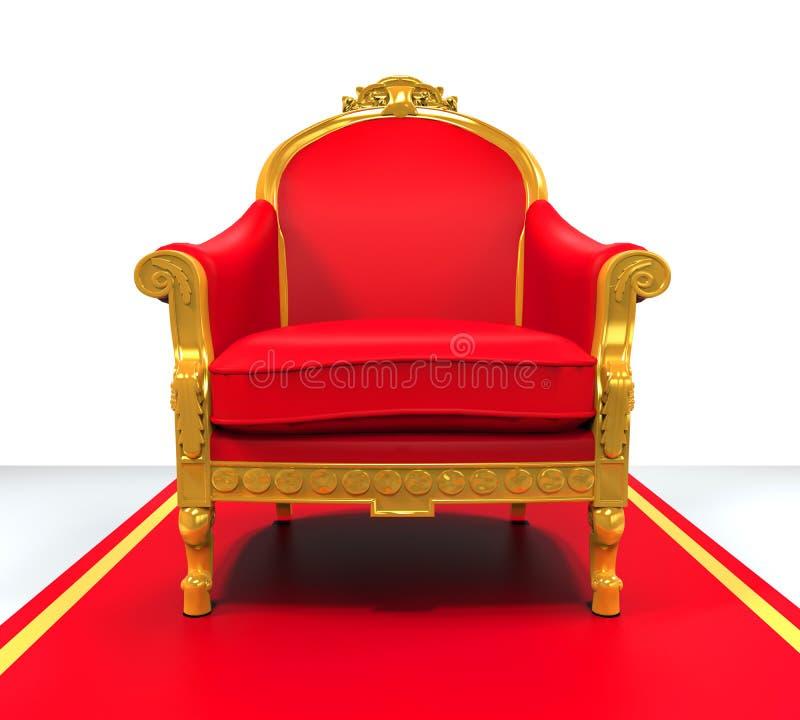 King Throne Chair. On white background. 3D render vector illustration