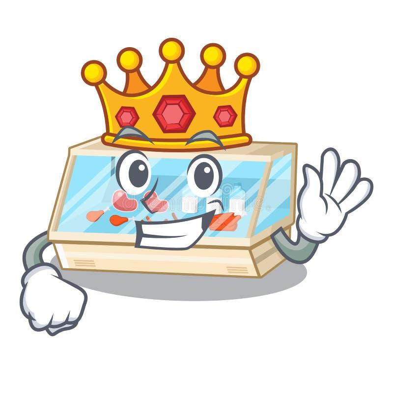 King trade counter in the a cartoon. Vector illustration vector illustration