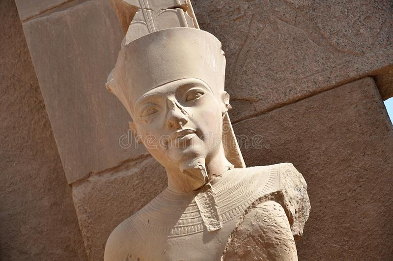 King Tut as the Great God Amun at Karnak Temple. Aswan, Egypt. stock photography