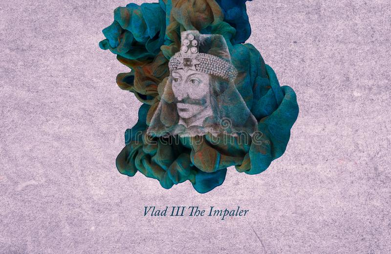 King Vlad III, The Impaler. Vlad III, known as Vlad the Impaler or Vlad Dracula, was voivode of Wallachia three times between 1448 and his death. He was the royalty free illustration