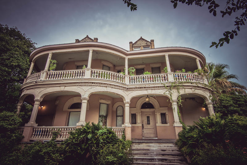King William District House. Old house in King William District, San Antonio, Texas, USA royalty free stock photography