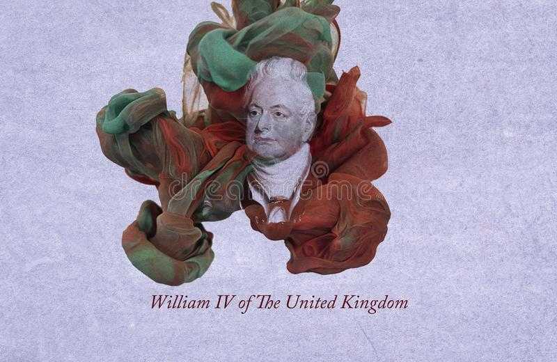 King William IV of the United Kingdom. William IV was King of the United Kingdom of Great Britain and Ireland and King of Hanover from 26 June 1830 until his vector illustration