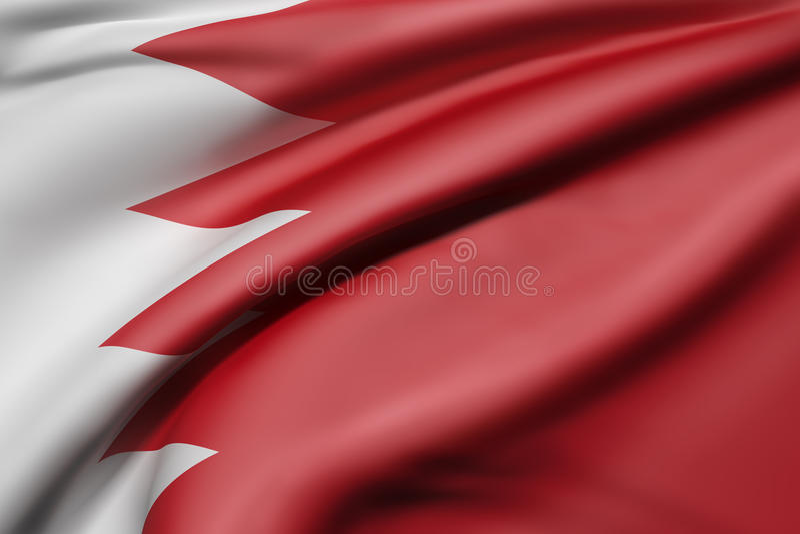 Kingdom of Bahrain flag royalty free illustration
