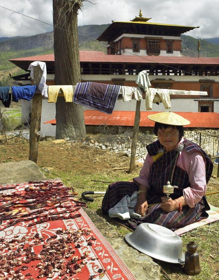 Kingdom of Bhutan - Drying Meat