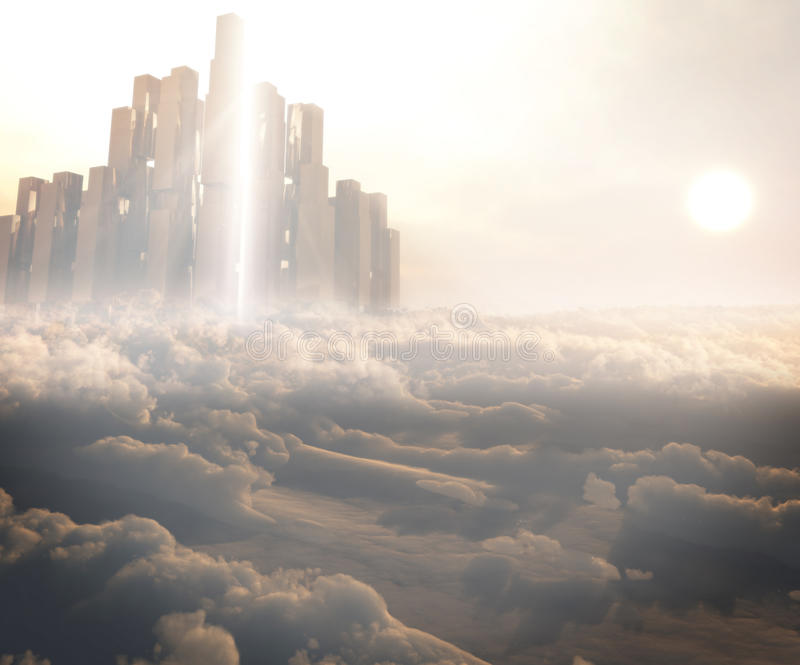 Kingdom In The Clouds stock illustration
