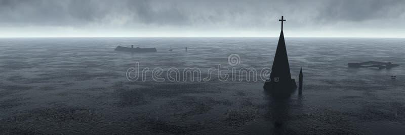 Download Flood stock illustration. Image of horizon, rain, storm - 30518881