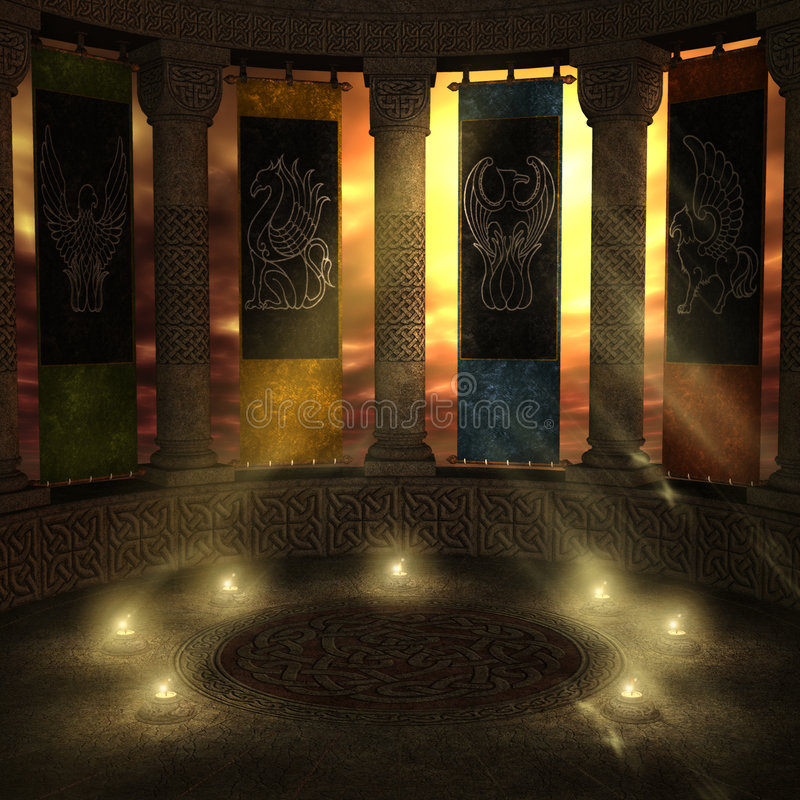 Kingdom in Heaven. Fantasy background for your artistic creations