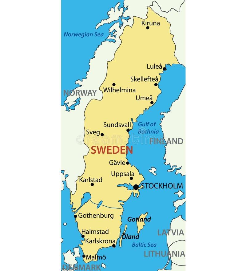 Kingdom of Sweden - vector map vector illustration