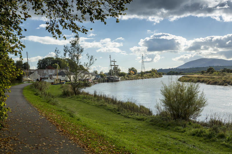 Kingholm Quay and River Nith, Dumfries stock photography