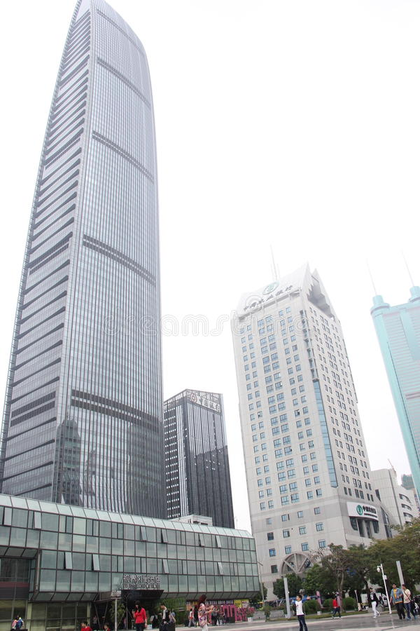 KingKey Financial Center in SHENZHEN,CHINA,ASIA. The KingKey Financial Center is 441.8 meters high, a total of 100 layers, is the first high-rise, Shenzhen royalty free stock photos