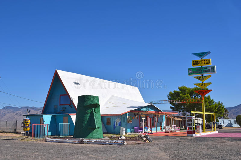 KIngman, Ranchero Motel on Route 66 royalty free stock images