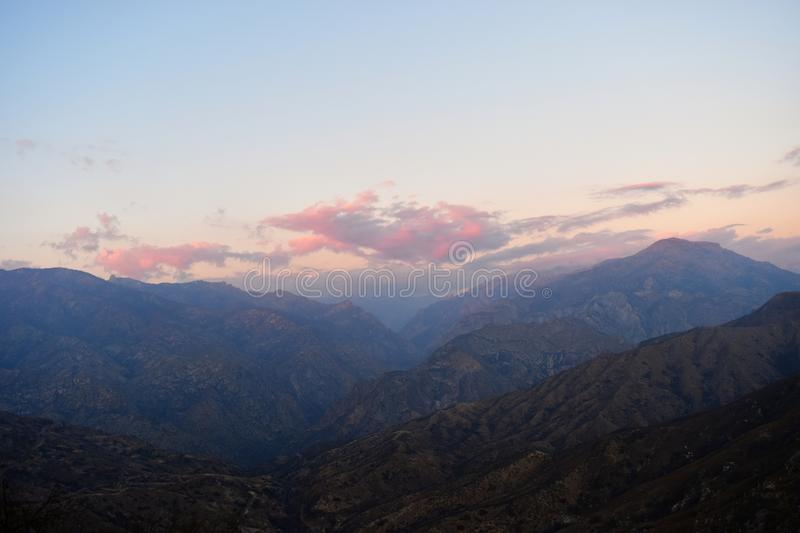 Kings Canyon Dawn stock images